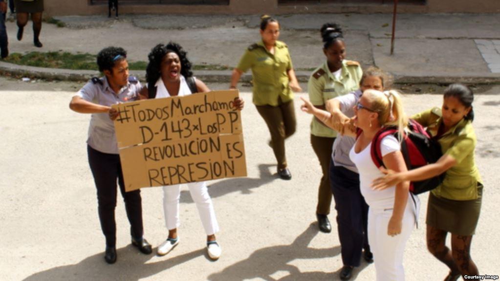 Damas de Blanco enfrentan otro domingo de represión en Cuba