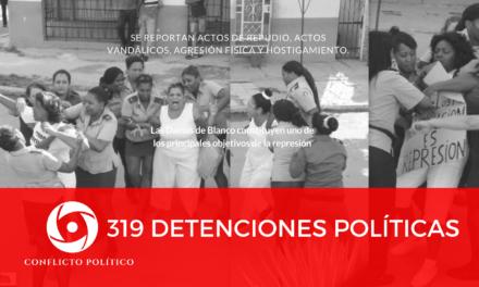 319 detenciones políticas