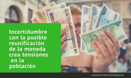 Incertidumbre con la posible reunificación de la moneda crea tensiones  en la población