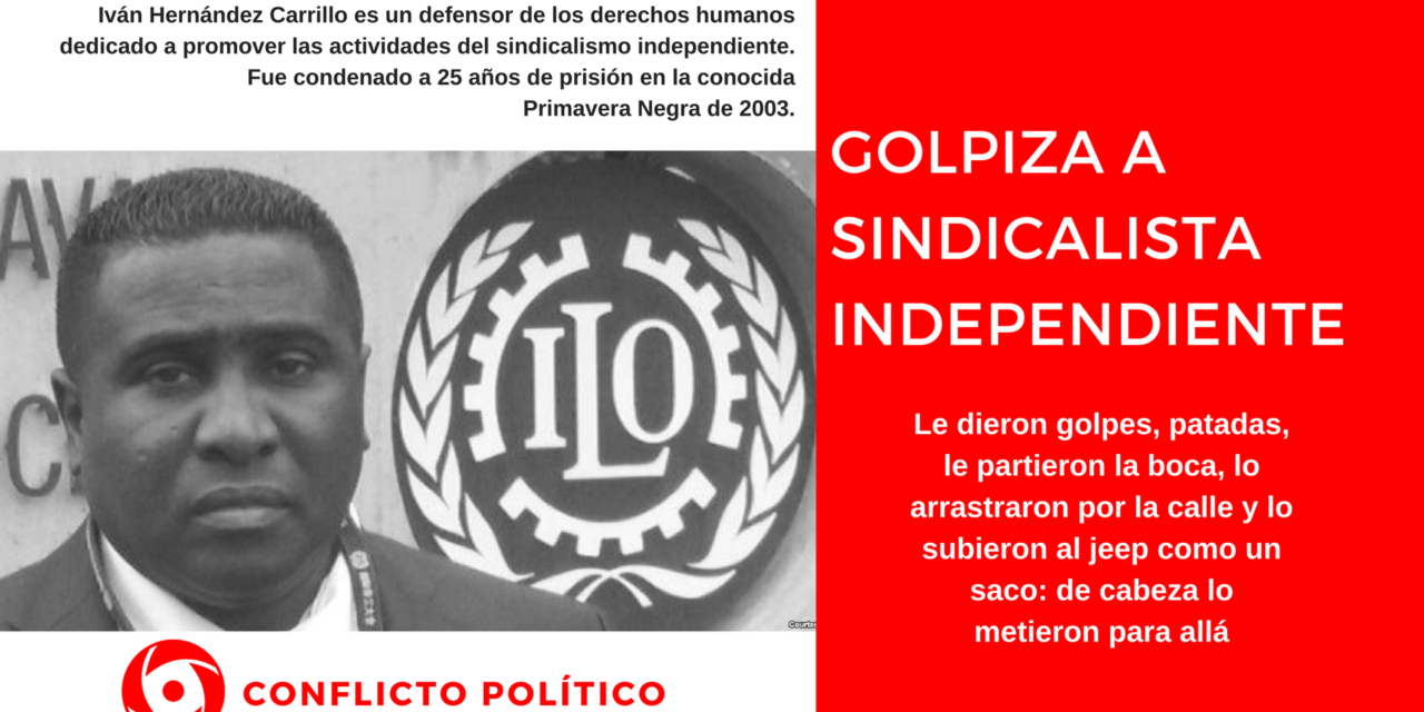 Golpiza a sindicalista independiente