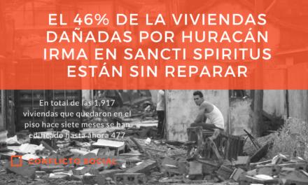 El 46% de la viviendas dañadas por Irma en Sancti Spiritus están sin reparar
