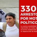 330 arrestos por motivos políticos