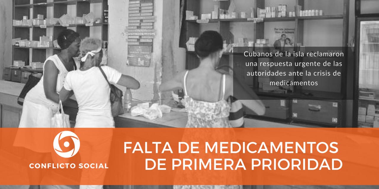 FALTA DE MEDICAMENTOS DE PRIMERA PRIORIDAD
