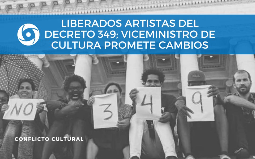 Liberados artistas del Decreto 349; viceministro de Cultura promete cambios