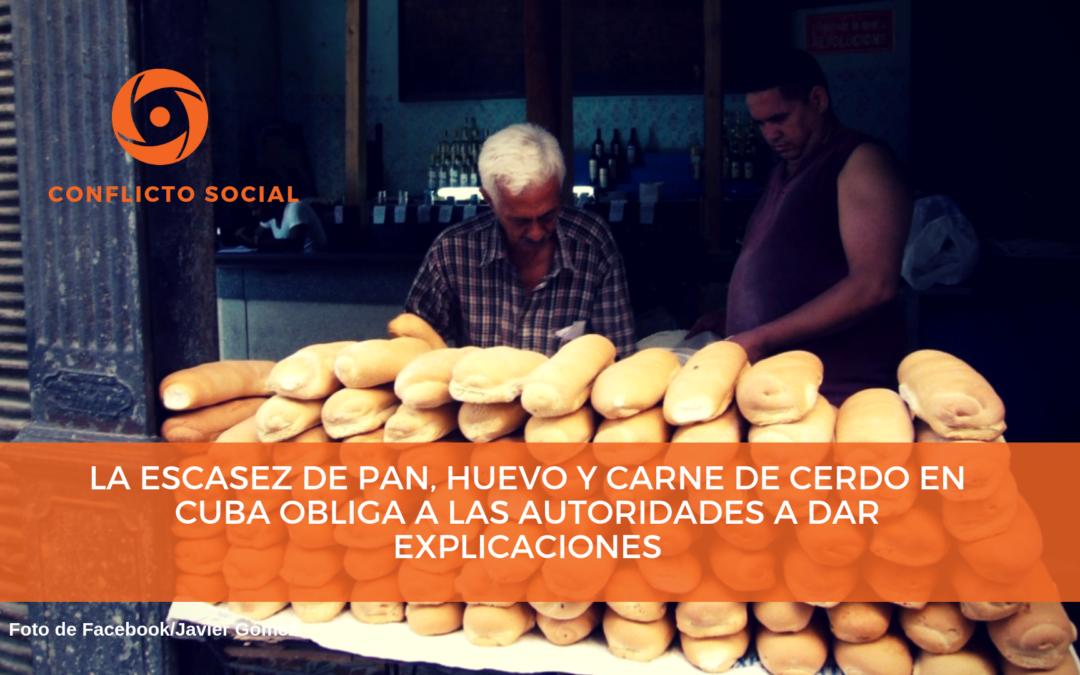 La escasez de pan, huevo y carne de cerdo en Cuba obliga a las autoridades a dar explicaciones