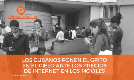 Los cubanos ponen el grito en el cielo ante los precios de internet en los móviles