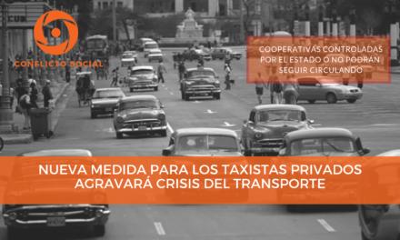 Nueva medida para los taxistas privados agravará crisis del transporte