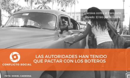 LAS AUTORIDADES HAN TENIDO QUE PACTAR CON LOS BOTEROS