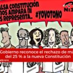 Gobierno reconoce el rechazo de más del 25 % a la nueva Constitución. Conflictometro Febrero 2019