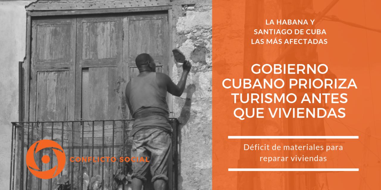 Gobierno cubano prioriza turismo antes que viviendas