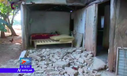 Un derrumbe total y 300 viviendas dañadas en Granma por sismo 7.7