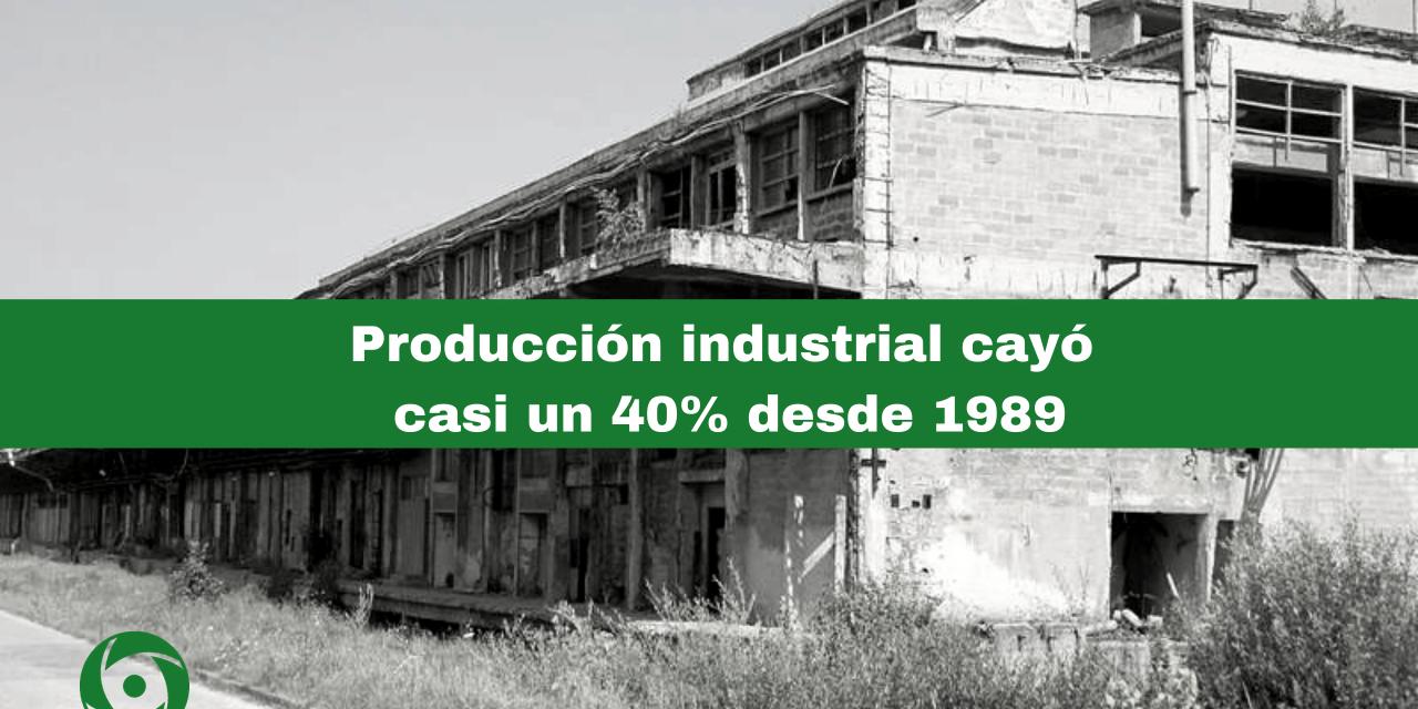 La producción industrial cubana cayó un 38% en 30 años