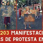 CUBA:  203 MANIFESTACIONES PÚBLICAS DE PROTESTAS