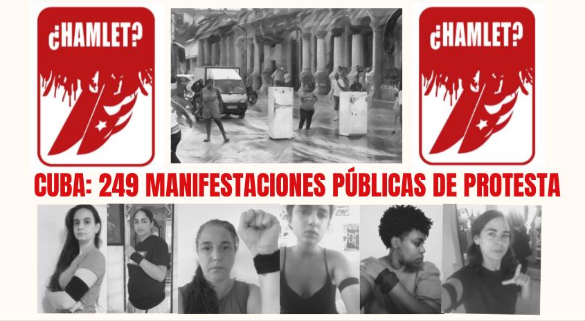 CUBA: 249 MANIFESTACIONES PÚBLICAS DE PROTESTA EN JUNIO